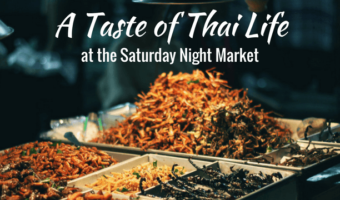 With the goal of sampling as much tasty Thai street food as possible, my friends and I visit the Saturday Night Market in Chiang Mai, Thailand.