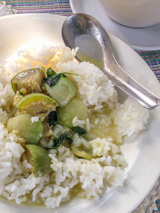 green coconut curry from cafe at womens prison chiang mai