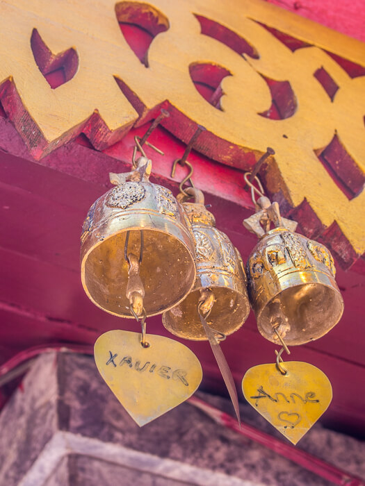 Prayer bells at Wat Phra That Doi Suthep